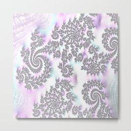 Classy Purple Fractal Art Metal Print