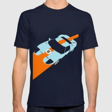Orange Notch - Ford GT40 Race Car Navy Mens Fitted Tee LARGE