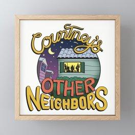 Courtney's Other Neighbors Framed Mini Art Print