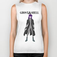 ghost in the shell Biker Tanks featuring Ghost in the Shell by Krbshadow