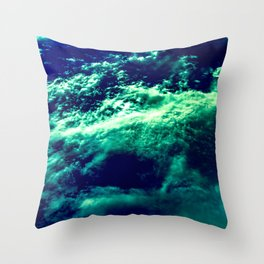 Eerie Waters Of The Bermuda Triangle Throw Pillow