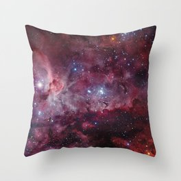 Carina Nebula of the Milky Way Galaxy Throw Pillow
