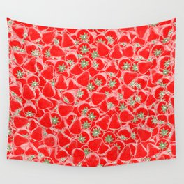 Strawberry Summer Wall Tapestry