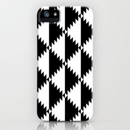 Aztec 3 B&W iPhone Case