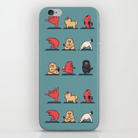 yoga iPhone & iPod Skins featuring Cat Yoga by Huebucket