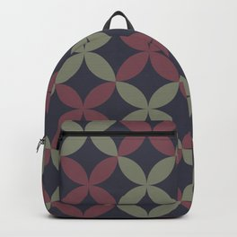 Blue Green Red Flower Pattern Accent Shades To Pantone 2021 Color of the Years Backpack