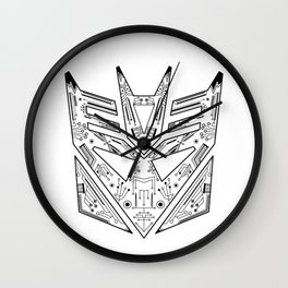 Decepticon Tech Black and White Wall Clock
