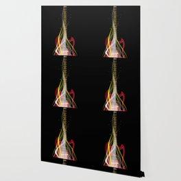 Burning Solid Electric Guitar Wallpaper