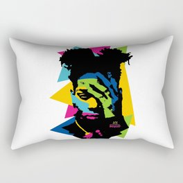 basquiat color jean michel Rectangular Pillow