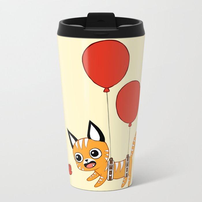 Balloon Cat Travel Mug
