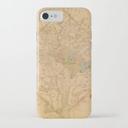 Civil War Washington D.C. Map iPhone Case
