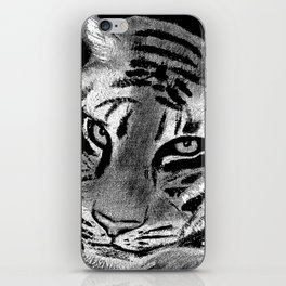 Tiger with White Background iPhone Skin