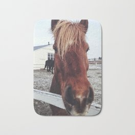 Brown horse face Bath Mat