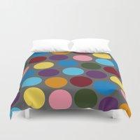 polka dots Duvet Covers featuring Polka dots by Bunyip Designs