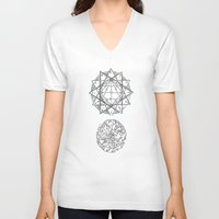 geo V-neck T-shirts featuring Geo by Joellart