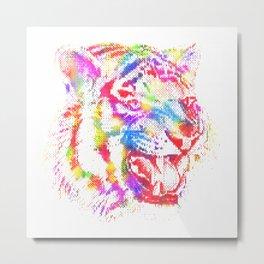 Artistic - Tiger Metal Print
