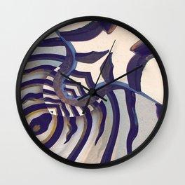 Zebra Dreams Wall Clock