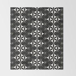 Flower of Life Pattern 12 Throw Blanket