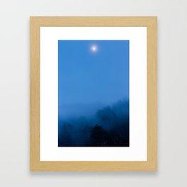 Misty Moonrise Framed Art Print