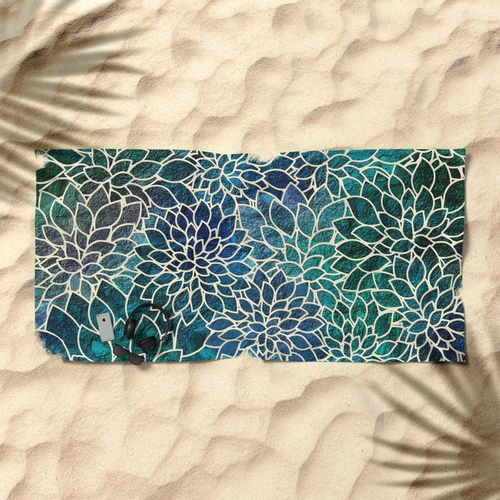 Floral Abstract 4 Beach Towel