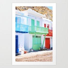 230. Tiny colorful Houses, Greece Art Print