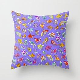 Aquarium Ultraviolet Throw Pillow