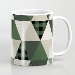 Hunter Green camping cabin glamping cheater quilt baby nursery gender neutral Coffee Mug