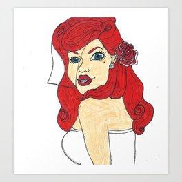 Pin Up Bride 2 Art Print