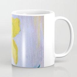 yellow summer iris 2 . Gift Ideas for Him and Her Coffee Mug