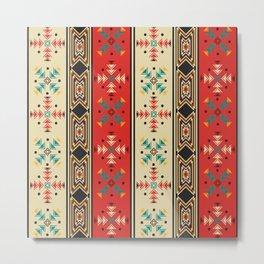 Modern Native American Pattern 2 Metal Print