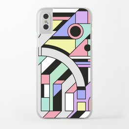 De Stijl Abstract Geometric Artwork Clear iPhone Case