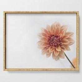 Dahlia Flower Serving Tray