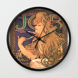 Vintage poster - JOB Cigarettes Wall Clock