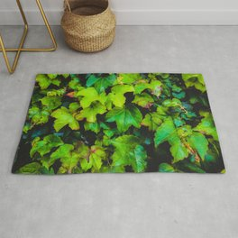 green ivy leaves texture background Rug