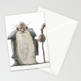 Old Man Wizard Stationery Cards