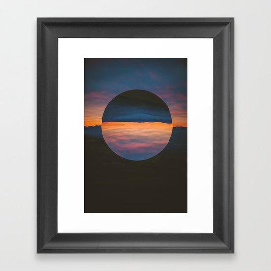 Black Sun Framed Art Print