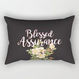 Blessed Assurance - Black Rectangular Pillow