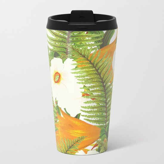 Summer Narcissus Metal Travel Mug