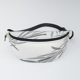 Eucalyptus leaves black and white Fanny Pack