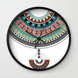 bohemian collar Wall Clock