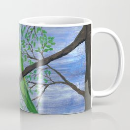 A painting of a quaker parrot Coffee Mug