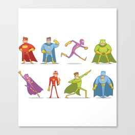 Funny Superheroes Canvas Print