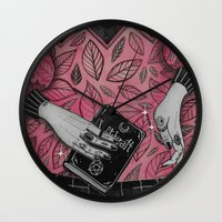 witchcraft Wall Clocks featuring Witchcraft by lOll3