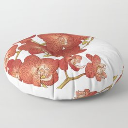 Red Orchids Floor Pillow