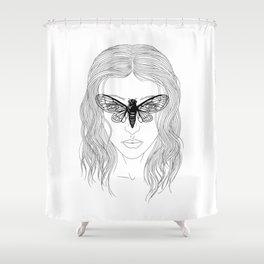 cicada glasses Shower Curtain