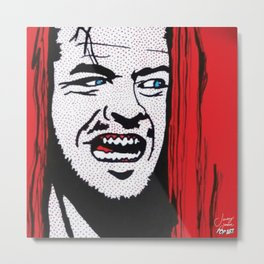 Shining | Pop Art Metal Print