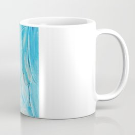 WATER FLOWERS - Beautiful Water Ocean Theme Shades Blue Floral Modern Design Abstract Painting Coffee Mug