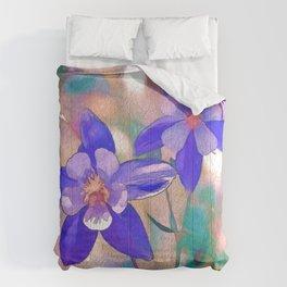 Colorado Blue Columbine -  State Flower Comforters