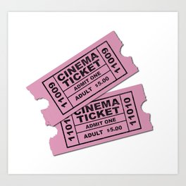 Cinema Tickets Art Print