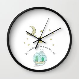 Hand Drawn Illustrations I'm Small But I Aim to Shine Like a Star Inspirational Gift Wall Clock